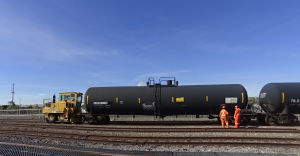 Parkland Fuel rail transloading terminal operated by Cando Rail Services