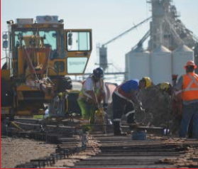 Rail Workers doing track Construction and Maintenance for Cando Rail Services